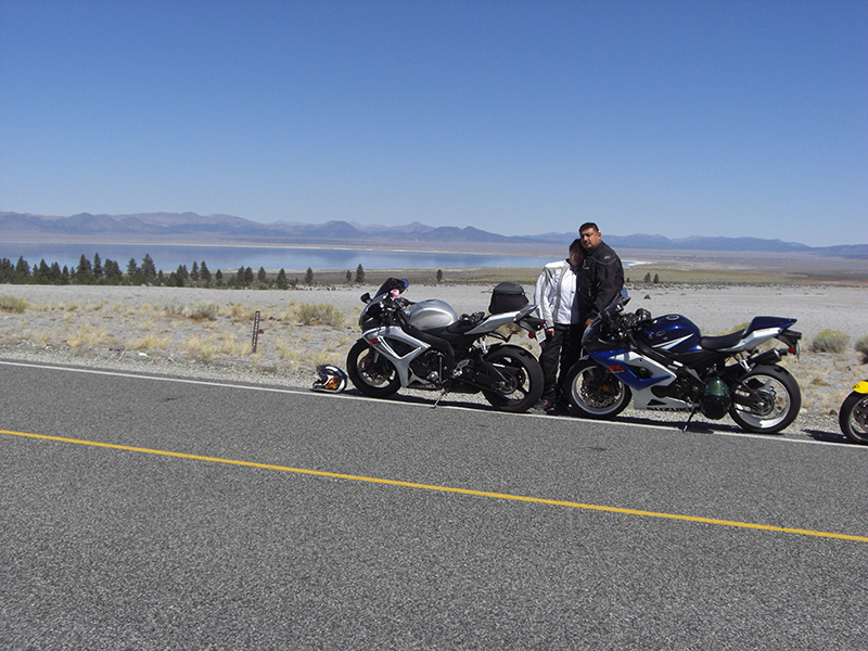 Nevada has some really great roads to check out.  Behind us is mono lake.  On our way to Hawthorne NV.